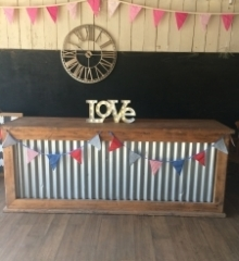 Rustic bar for hire