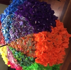 Paper flower umbrella