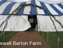 entrance of tent
